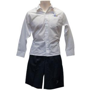 Dromana White L/S Shirt W/Logo